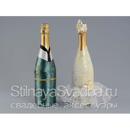 Декор шампанского в военной форме. Фото 000.