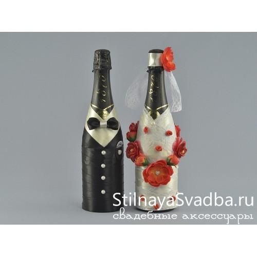 Декорированные бутылки шампанского фото