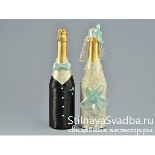 Свадебный декор шампанского Мятный аромат фото