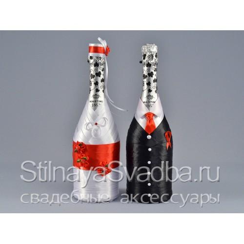 Свадебное шампанское Lady in red фото