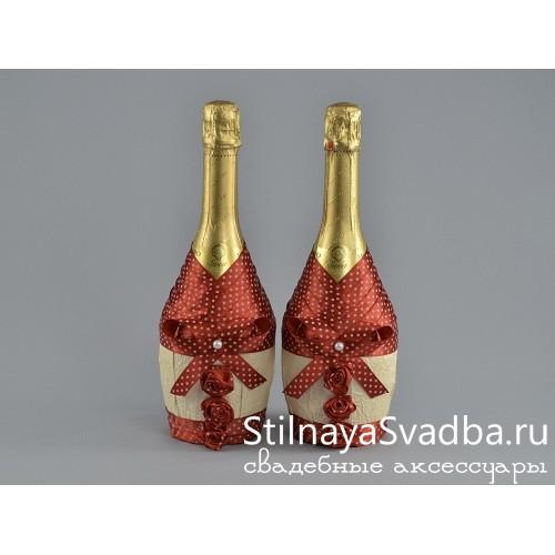 Декор бутылок шампанского на свадьбу фото