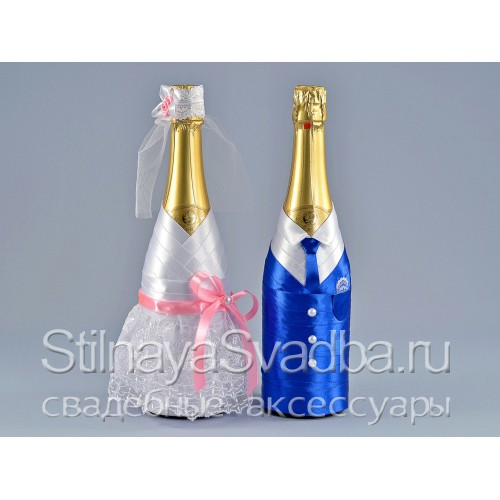Декор бутылок шампанского  фото
