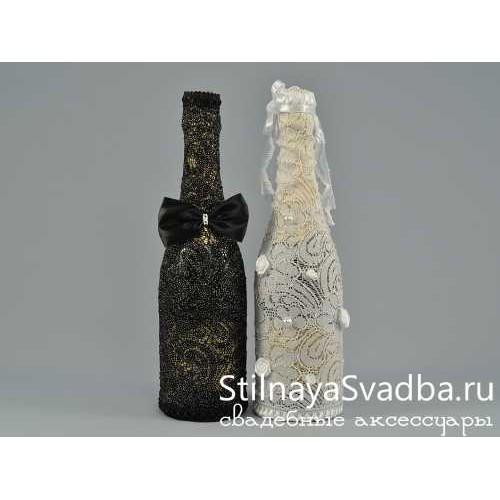 Украшения для классических бутылок шампанского фото