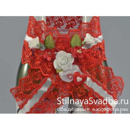 Съёмное украшение для шампанского Romantic heart фото