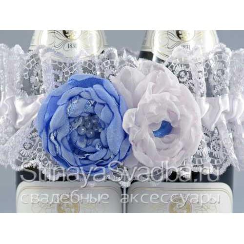 Фото. Съёмное украшение в небесно-голубом цвете