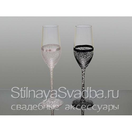 Бокалы для шампанского на свадьбу фото