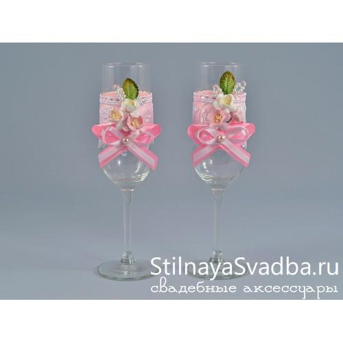Свадебные бокалы Вишнёвый сад фото