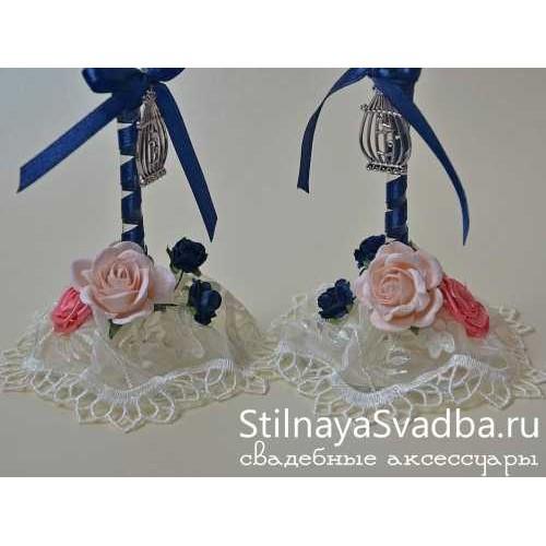 Свадебные бокалы Виноград. Фото 000.
