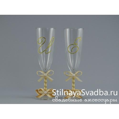 свадебные бокалы со стразами сваровски фото