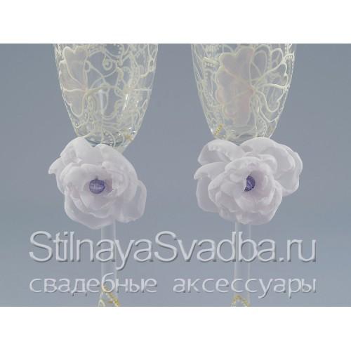 Съемные цветы для бокалов фото