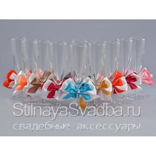 Съемные украшения для бокалов разноцветные фото