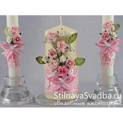 Свечи с розочками фото