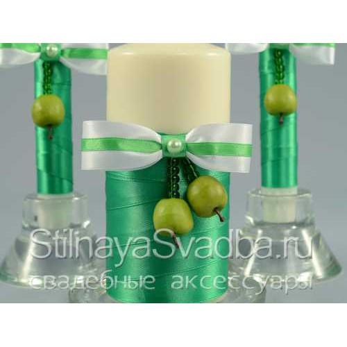 Свадебные свечи в яблочном стиле. Фото 000.