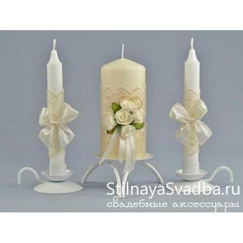 Свадебные свечи Крем-брюле фото