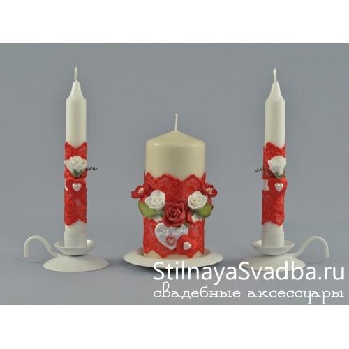 Свадебные свечи Romantic heart фото