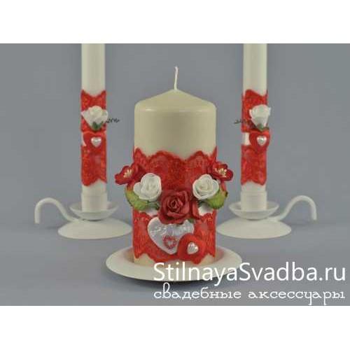 Свадебные свечи Romantic heart. Фото 000.