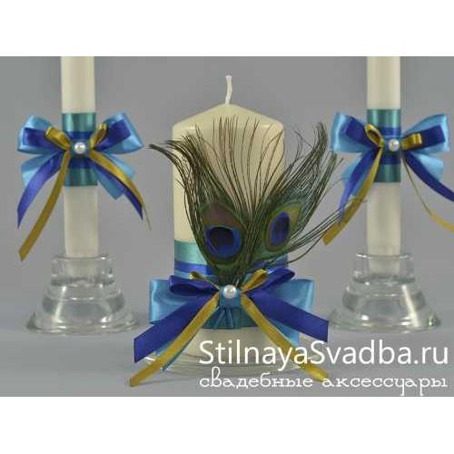 Комплект свечей Сказочный павлин. Фото 000.