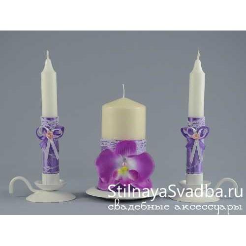 """Свечи """"Лиловая орхидея"""" фото"""