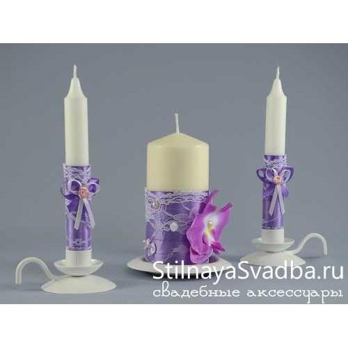 """Свечи """"Лиловая орхидея"""". Фото 000."""