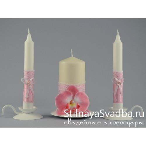 """Комплект свечей """"Pink"""" фото"""