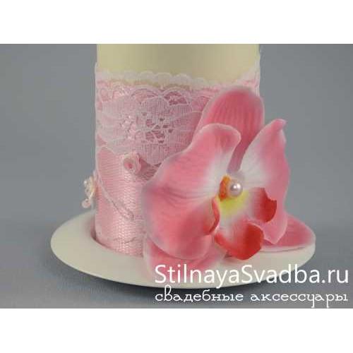 """Комплект свечей """"Pink"""". Фото 000."""