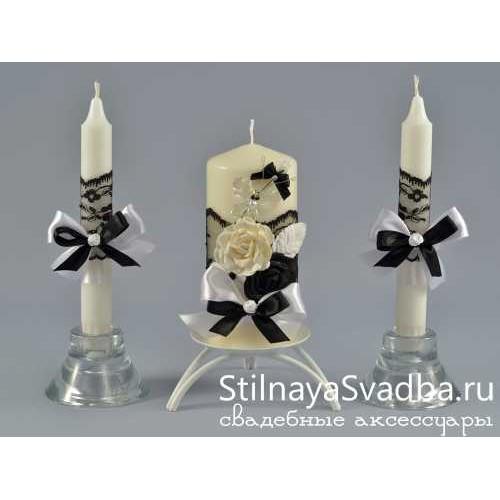 Фото. Чёрно- белые свечи