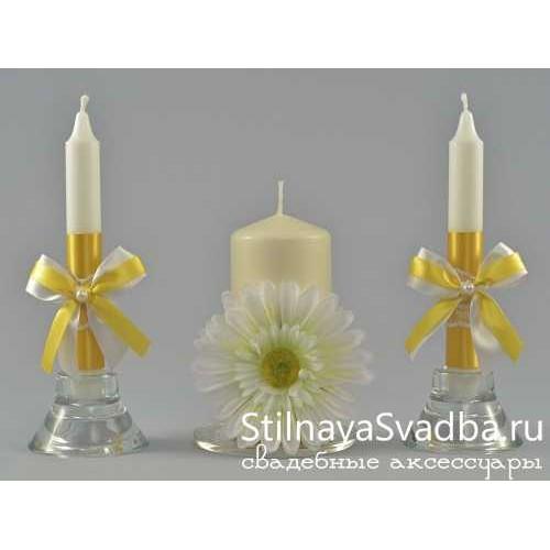 Свадебные свечи из коллекции «Гербера» фото