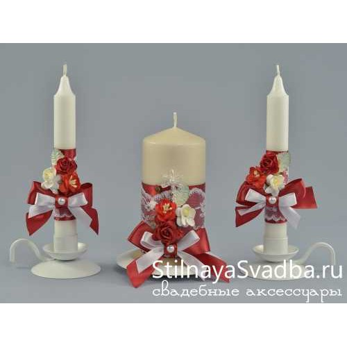 Комплект свечей Love story фото