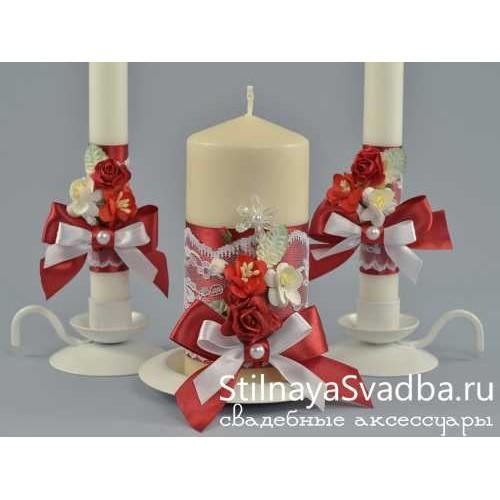 Комплект свечей Love story. Фото 000.