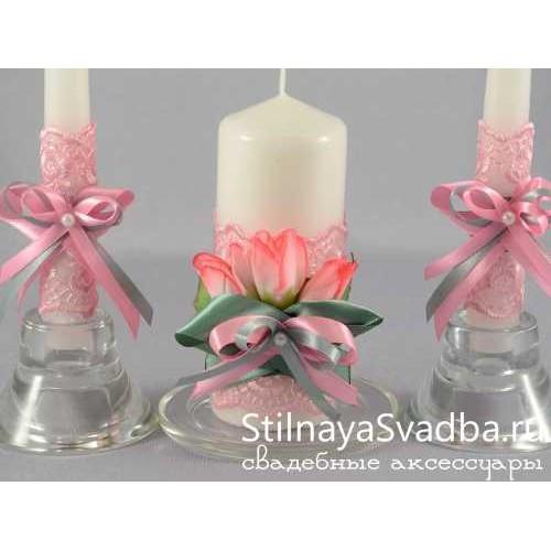"""Комплект свечей """"Весенний крокус"""". Фото 000."""