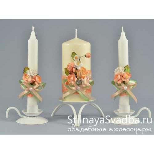 Свечи Вариации на тему Персика фото