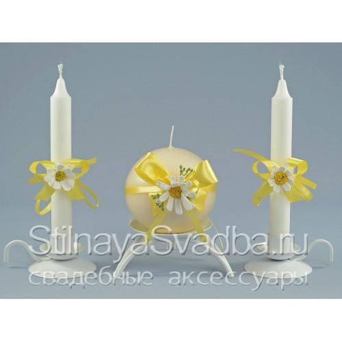 Съемные украшения для свечей с ромашками фото