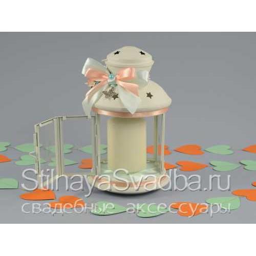 Комплект свечей с подсвечником -фонариком. Фото 000.