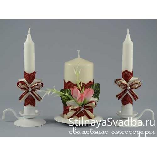 Комплект свечей Вишнёвый пунш фото