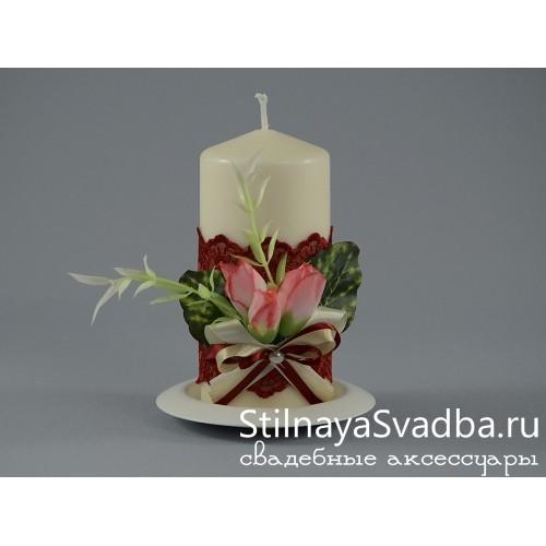 Комплект свечей Вишнёвый пунш. Фото 000.