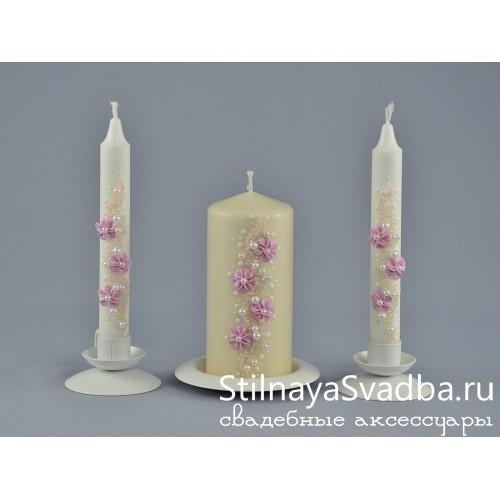 Свечи с лепкой Катрин фото