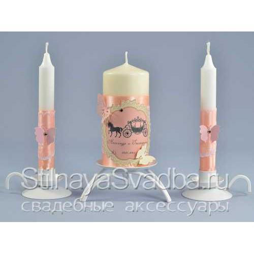 Комплект свечей в стиле Золушка фото