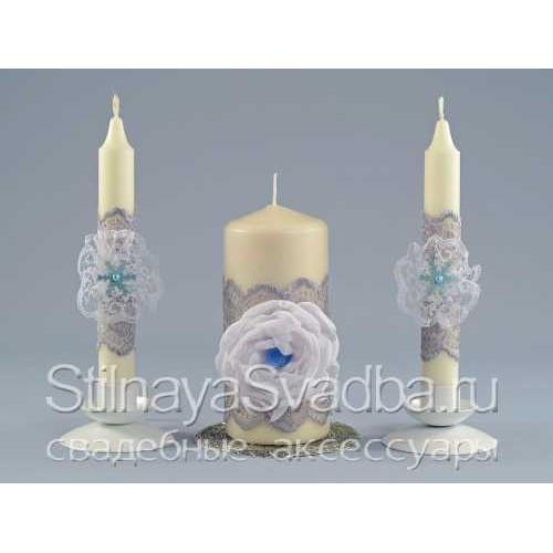 Свечи для зимней свадьбы Серебро фото