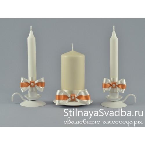 Комплект свечей коллекция Абрикос фото