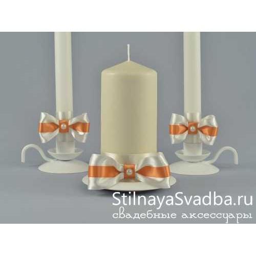 Комплект свечей коллекция Абрикос. Фото 000.