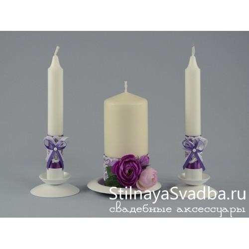 Свечи Лилова роза фото