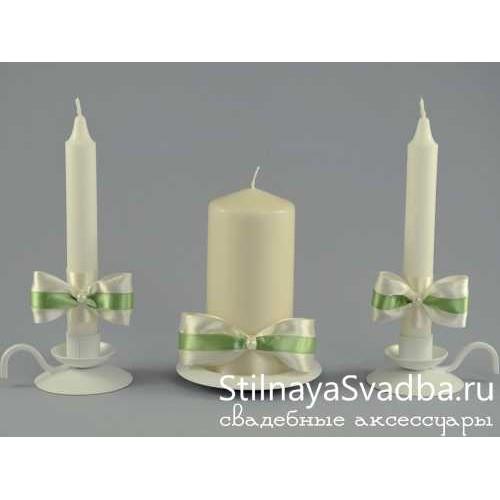 "Комплект свечей ""Фисташка"" фото"