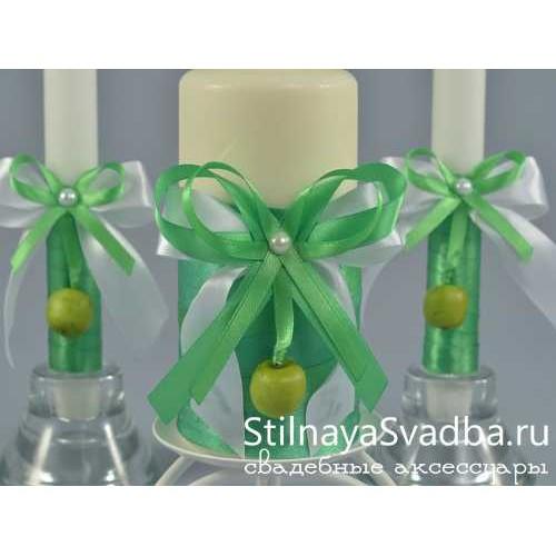 Комплект свечей в яблочном стиле. Фото 000.