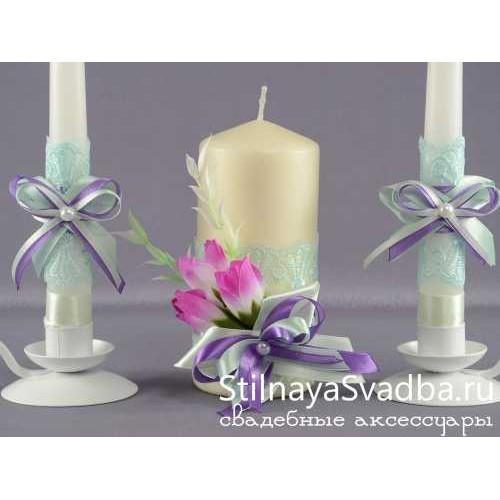 """Комплект свечей """"Весеннее настроение"""". Фото 000."""