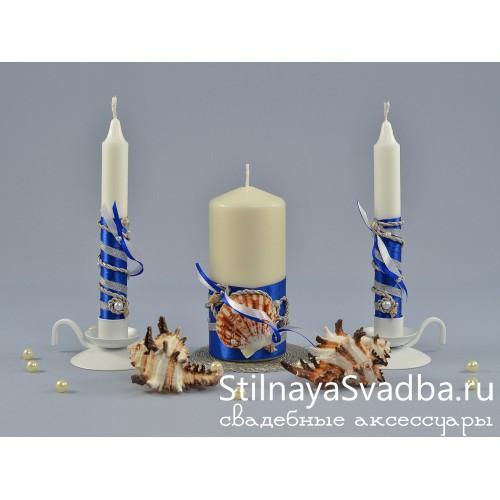 Морские свадебные свечи Синее море фото