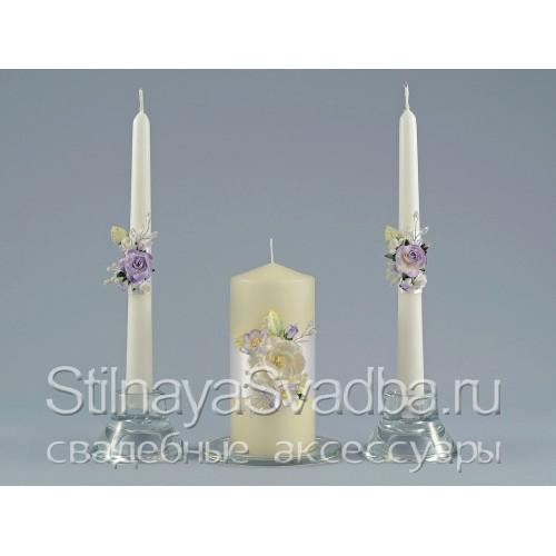 Комплект свечей Нежность магнолии фото