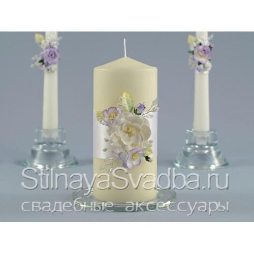 Комплект свечей Нежность магнолии. Фото 000.