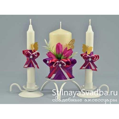 Комплект свечей Бабочки фото