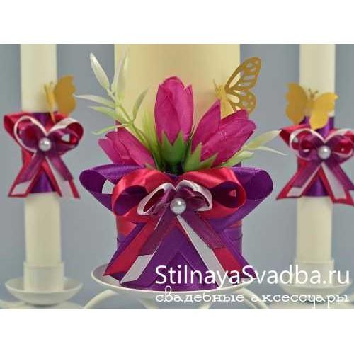 Комплект свечей Бабочки. Фото 000.