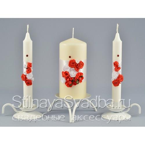 Свадебные свечи Lady in red фото